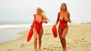 Busty Goddesses Bridgette B And Nicolette Shea Are Enjoying His Boner