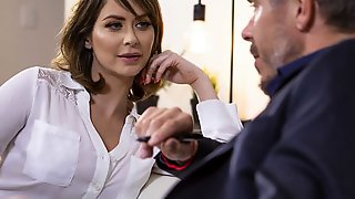 Outstanding Hottie Emily Addison Cheats On Her Hubby With A Boss