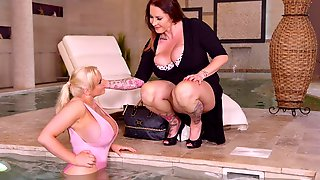 Two Busty Hotties Jordan Pryce And Laura Orsolya Are Fucking With A Big Toy