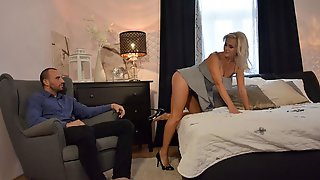 Spicy Blonde With Big Tits Kathy Anderson Cheats In The Bedroom