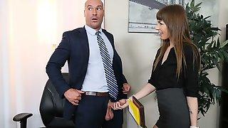 Spicy Small-tit Secretary Alex Blake Fucked By A Pretty Big Boner
