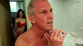 Beautiful Busty Teen Bella Diamond Fucks With A Lucky Old Man
