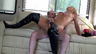 Stefani Boots Anal In Chastity ,swallow Cum