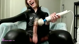 Huge Lengthy Spunk-Pump Trans Finishes Off In Spandex