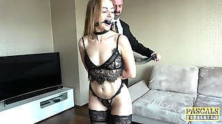 Lingerie, Blonde, Bondage, Cumshot, Fetish