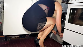 MILF Housework In Nylons - Lady Saskia