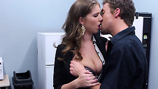 Busty Chick Alex Chance Is Hungry For Co-workers Cock In The Office