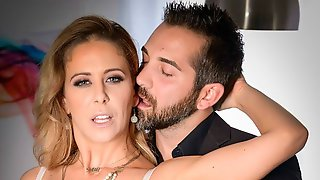 Bitchy MILF In Stockings Cherie Deville Cheats With A Young Man