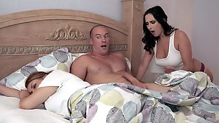 Ashley Adams Sucks Seans Cock Next To His Sleeping GF
