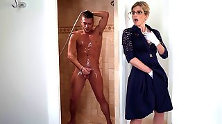 Cory Chase Spies On Xander Jerking Off In The Shower