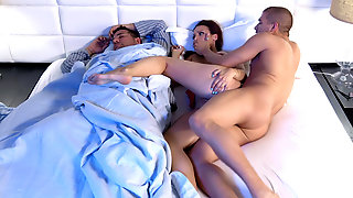 Lexi Luna Gets Fucked While Her Husband Sleeping In The Same Bed