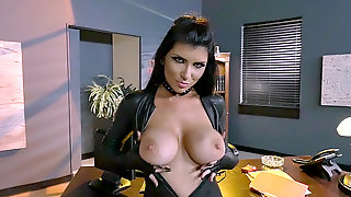 Sexy Assassin Romi Rain Teasing Her Boss In The Office