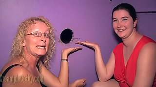 GILF Cathy And Her Sexmate Wait For Gloryhole Dicks
