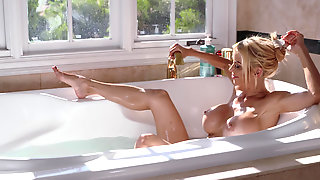 Alexis Fawx Receives A Load Of Extra Soft, Moisturizing Lotion All Over Her From Horny Stud