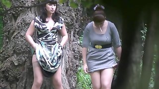 Teens Pissing In The Woods