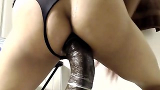 Steamy Slender Transgender Princess Railing A Massive Ebony Fuck Stick On Webcam