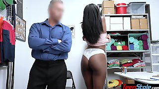 Bombastic Ebony Teen Punish Fucked By Officer