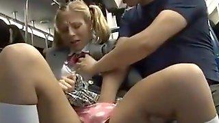 Asian Guy Fucks Teen White Girl On Bus