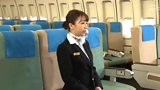 Big Butt Japanese Stewardesses Give Awesome Fuck And Suck First Class Servi