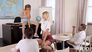 Missy Luv, Alyssia Kent And Rebecca Volpetti Classrooom Group Sex