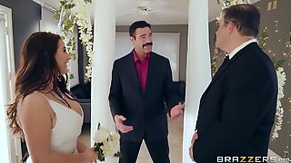 A Super-busty Bride Gets Horny During The Wedding Ceremony.