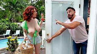 Redhead Goddess With Big Boobs Annabel Redd Likes His Young Cock