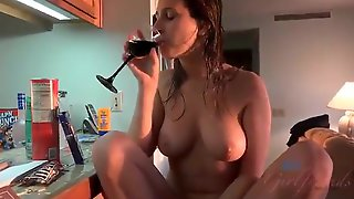 My Busty Girlfriend Likes To Drink Wine And Sucks My Huge Cock