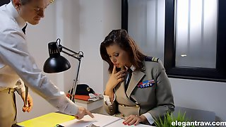 Uniformed Anna Polina Wants To Please Her Friend With Hard Fuck