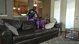 Kinkyrubberworld In Laras Bent Over The Sofa Fun With Rubber_Jeff - FanCentro