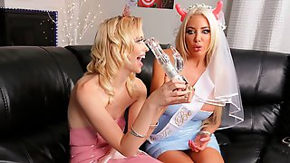 Pretty Hot Lesbian Action With Chloe Cherry And Nicolette Shea