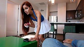 Redhead Cutie Vanna Bardot Nicely Plays With A Big Black Dick
