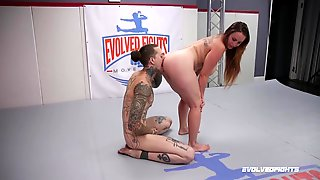 Naughty Porn In The Ring With A Busty Woman On Fire