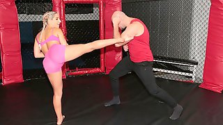 Sweet And Sporty Blonde Abella Danger Nailed By A Muscled Guy