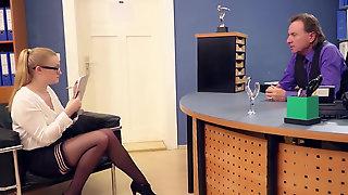 German Secretary Scarlett Scott Takes Care Of Her Bosss Needs