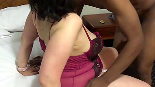 Mature Mother Gives Young Black Boy Oral