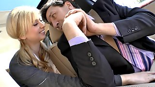Molly Bennett Seduces Her Chauffeur - Old And Teen Porn