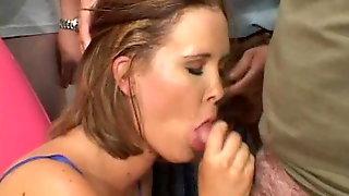 Sasha Sucks Off A Bunch Of Dicks