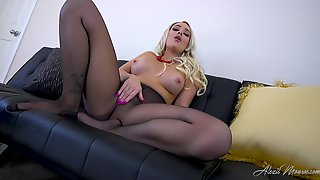 Pantyhose Pleasure - Alexis Monroe Hot Solo Video