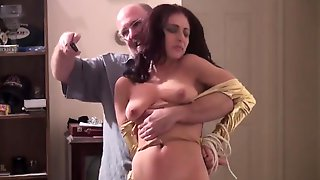 Old Man Fucks Young Busty Hottie Brunette