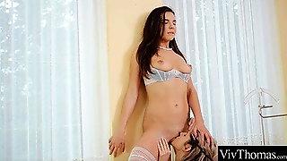 Skinny Gina Gerson And  Buxom Henessy Enjoy Wild Lesbian Sex