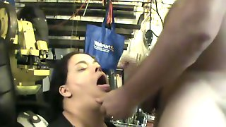 On Her Knees Quick Suck Job Facial