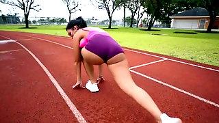 Fit Latina Alina Belle Banging Her Training Partner