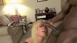 Mature Crossdresser Having A Jolly Time With A BBC