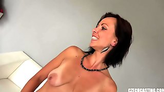 Amateur MILF With With Saggy Tits Gets Naughty At The Casting