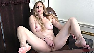 Milf Lady In Office - Hot Mommy Solo Session