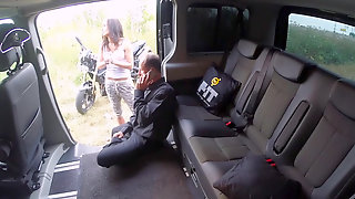 Curvy Euro Girl Nikky Sweet Gets Pounded In The Backseat Of A Van