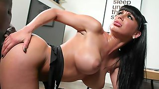 Perfect Interracial Sensations To Fuck The Maid In Both Her Holes