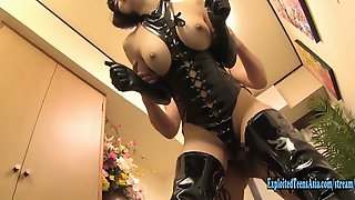 Jav Idol Hirose Umi Fucks In Bondage Gear Massive Tits Really Sexy AV Star Many Positions