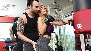 Sensual Blonde Teen Kayla Kayden Is Fucking In The Local Gym