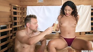 Relaxing Time In Sauna Turns To Hard Sex With Hot  Liv Revamped
